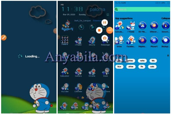 Tampilan Tema Doraemon Vivo