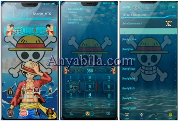 Tampilan Tema One Piece For Vivo Itz