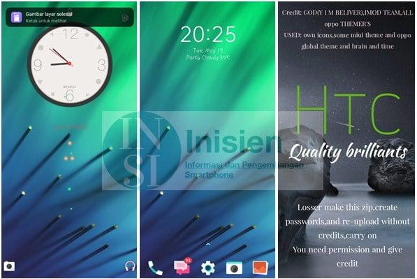 Tampilan HTC untuk Realme