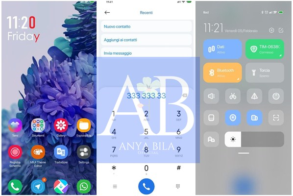 Tampilan Tema Samsung A21 untuk Xiaomi