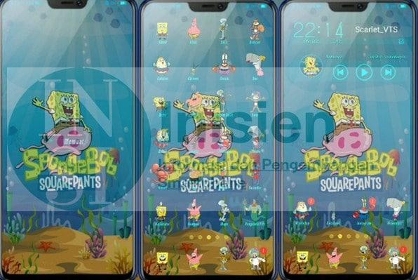 Tampilan Spongebob Squarepants Vivo