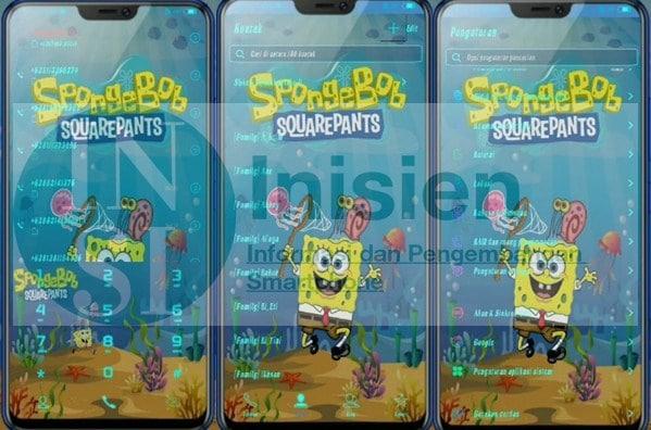 Tampilan Tema Spongebob Squarepants untuk Vivo itz