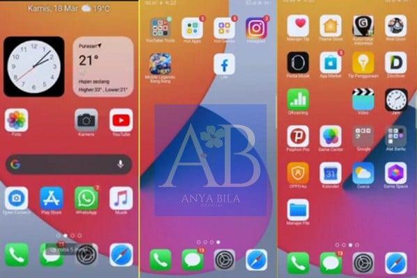 Tampilan Theme Iphone Oppo