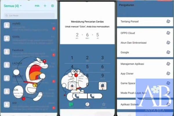 Tema Doraemon Oppo theme
