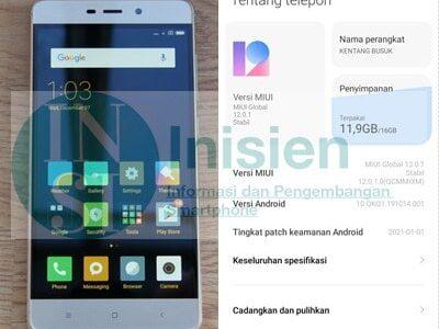 Update Rom MIUI 12 Xiaomi Redmi 4 Prada Terbaru
