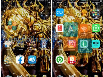 Tema Xiaomi Saint Seiya mtz Tembus Aplikasi